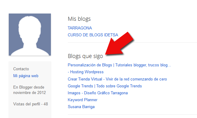 Conseguir backlinks Page Rank alto - perfil Blogger