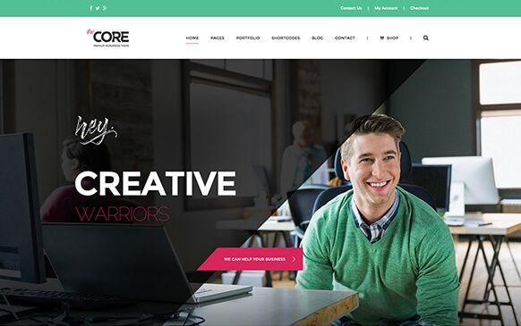 tema wordpress the core