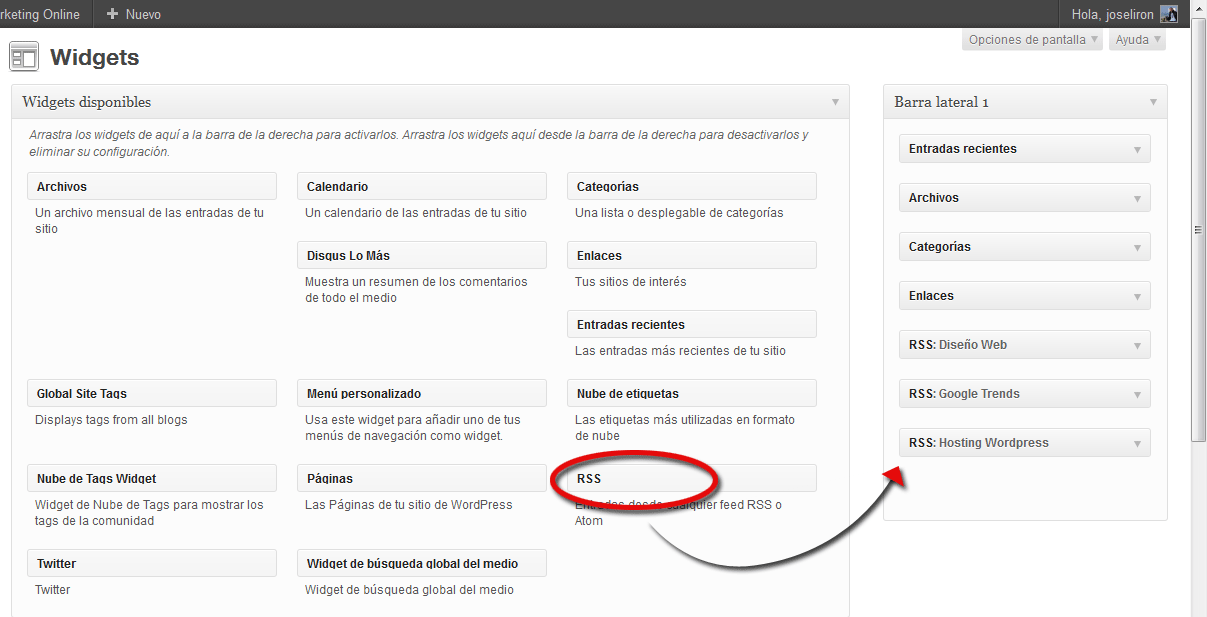 Cómo conseguir enlaces DoFollow de alto Page Rank - Drag and Drop RSS