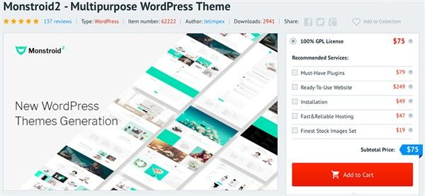 es mejor templatemonster o themeforest