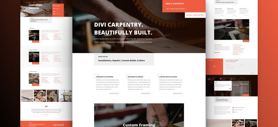 plantilla wordpress carpinteros